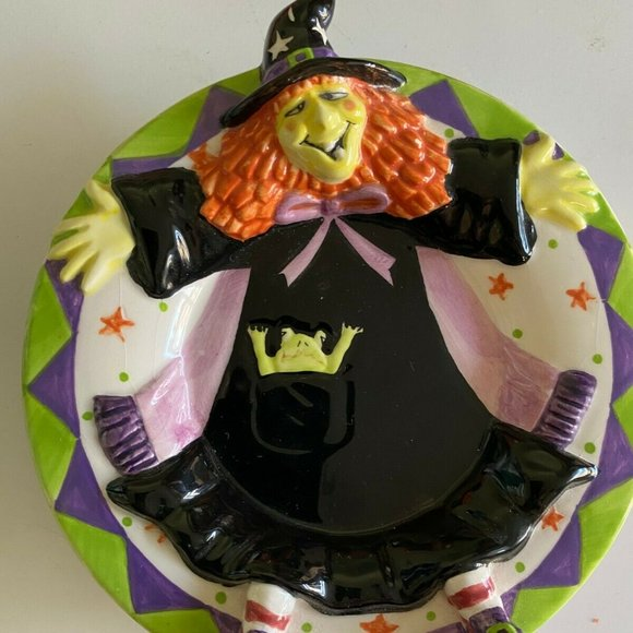 Yankee Candle Halloween Witch Plate Figural Emboss